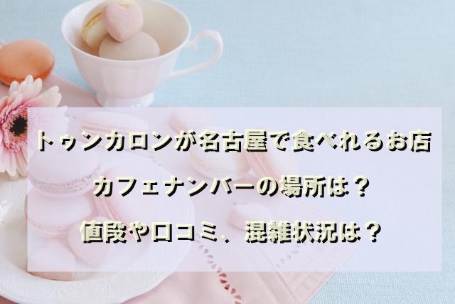 トゥンカロンが名古屋で食べれるお店カフェナンバーの場所は?値段や口コミ、混雑状況は?