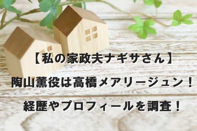 【私の家政夫ナギサさん】陶山薫役は高橋メアリージュン!経歴やプロフィールを調査!