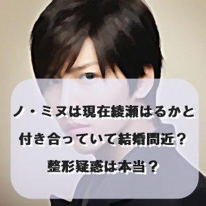 ノ・ミヌは現在綾瀬はるかと付き合っていて結婚間近?整形疑惑は本当?