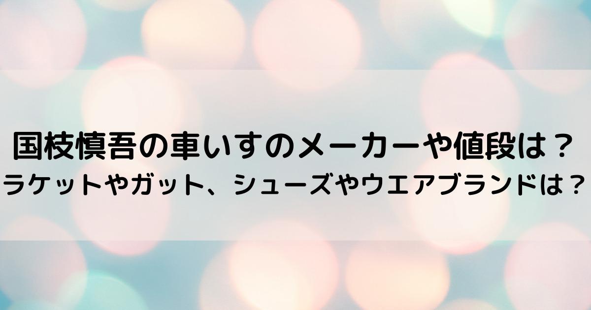 国枝慎吾の車いすのメーカーや値段は?ラケットやガット、シューズやウエアブランドは?